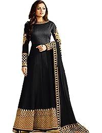 MSP Fashion Black Bangalory Silk Embroidered Anarkali Suit For Women