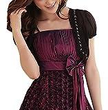 Bolero Damen Elegant Chiffon Kurzarm Cardigan Crop Top Uni-Farben Große Größen Frauen Festlich Bekleidung Mädchen Kurz Wenig Mantel Leicht (Color : Schwarz, Size : 3XL)