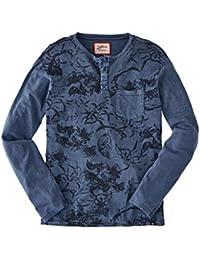 Joe Browns Mens Casual Long Sleeve Henley Top In Floral Print