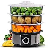 Geepas Food Steamer 12L Capacity | 3 Tiers BPA Free Removable | 75