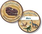 6 Ausweise für * DINO FORSCHER * für eine Dinosaurier Mottoparty // Kindergeburtstag Kinder Geburtstag Feier Set Fest Party Motto Deko Spiel Mitgebsel T-Rex