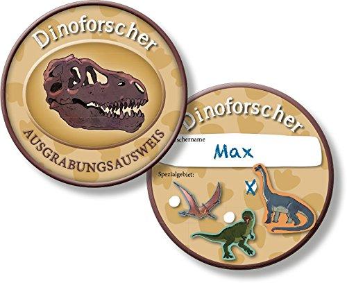 (6 Ausweise für * DINO FORSCHER * für eine Dinosaurier Mottoparty // Kindergeburtstag Kinder Geburtstag Feier Set Fest Party Motto Deko Spiel Mitgebsel T-Rex)