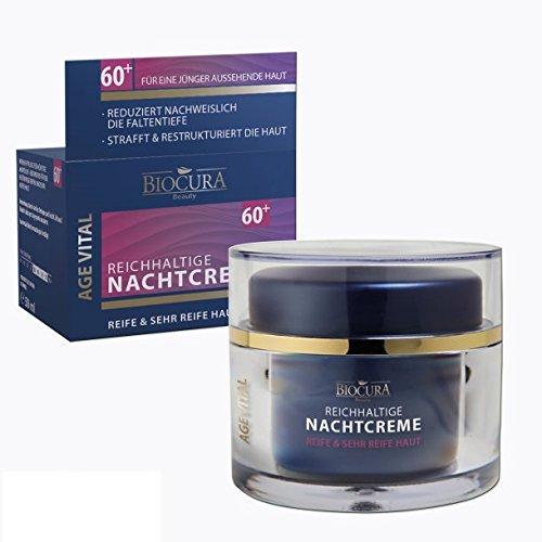 Biocura Age-Vital Reichhaltige Nachtcreme für reife & sehr Reife Haut 50 ml 60+