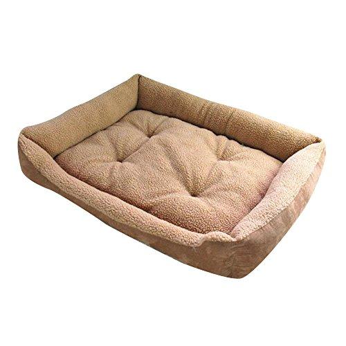 Weiche Lammfell Nachahmung Fluffy Hundebett Haustier Warm Korb Bett Kissen mehrere Größen für Katzen Hunde Leichter Kaffee