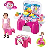 Webby 2 In 1 Carry-On Kitchen Play Set Chair With Lights & Sounds For Your Little Princess