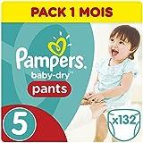 Pampers Baby Dry Pants 132 Couches pour Bébé de 12-18 kg/Junior Taille 5