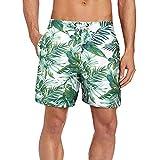 Beach Wear Herren Badehose Freizeit Short Schnelltrocknend Badeshorts mit Mesh EHS007-XL