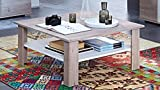 Couchtisch Wohnzimmertisch Landhaus Tisch Malibu Silbereiche weiß 90x90 cm