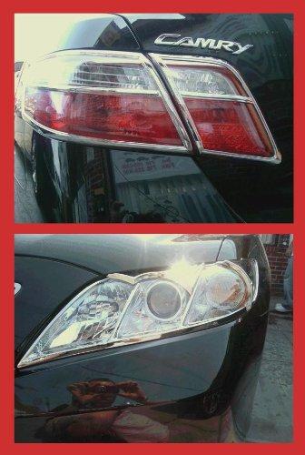 Toyota Camry Exterieur Chrom-Kopf-Licht-Scheinwerfer-Rücklicht-Ordnungs-Set 2007 2008 2009 (Toyota Camry Lichter)