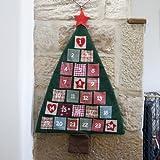 Lights4fun - Calendario de adviento (tela, 93 x 60 cm), diseño de árbol de navidad