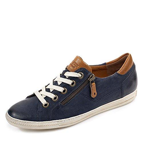 Paul Green 4128-042 Damen Sneaker aus hochwertigem Leder Filigrane Kontrastnähte, Groesse 41 1/2, dunkelblau