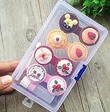 YOIL 4PCS Mini Lovely Cartoon Kontaktlinsen-Box Halter Fall Container Kuchen Creme Form Display Collector Aufbewahrungsbox zufällige