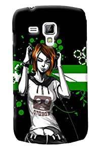 Fuson Music Girl Back Case Cover for SAMSUNG GALAXY S DUOS S7562 - D3716