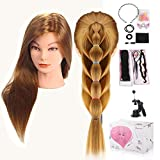 Beautystar 100% Synthetic Hair Hairdressing Cosmetology Mannequin Manikin Training Training Head With Clamp