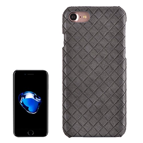 mxnet per iPhone 7Texture Stretta Texture PU Pelle superficie protettiva caso posteriore custodia telefono cellulare Phone Case Cover grigio