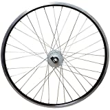 26 Zoll Vorderrad Laufrad Hohlkammerfelge mit Nabendynamo Shimano Nexus, Schwarz