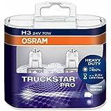OSRAM TRUCKSTAR PRO H3, Halogen-Scheinwerferlampe, 64156TSP-HCB, 24V NKW, Duobox (2 Stück)