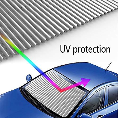 Tende a rullo YXX Parasole per Auto per Finestra Anteriore, Parasole per Parabrezza per Auto, blocchetti per Raggi UV nocivi, Ventose per vetri (Dimensioni : Length:65cm)