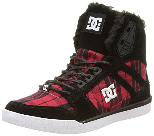 DC Shoes Rebound Slim High WNT, Sneakers Hautes Femme Multicolore (Black/Plaid)
