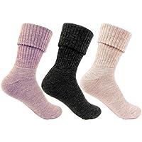 Womens Woolen Multicolour Colour Pack of 3 Pairs Socks by Bonjour_BROGWL-15A-PO3