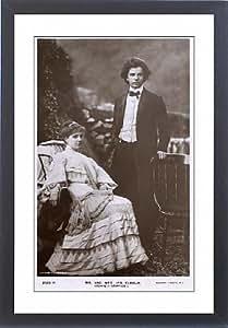 Encadrée de Jan Kubelik et Countess Anna Szell von Bessenyo