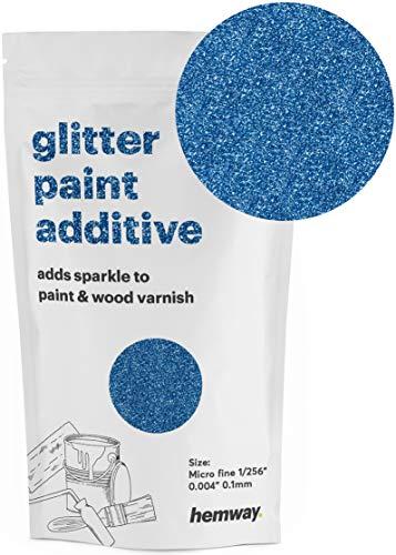 Hemway Microfine Glitzerfarbe Additive Emulsion auf Wasserbasis, 100 g, blau - Acryl-emulsion