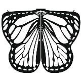 SEWORLD Damen Schmetterling Kostüm Faschingkostüme Schmetterling Schal Erwachsene Poncho Umhang für Party Halloween Weihnachten Kostüm Cosplay Karneval Fasching (C-Weiß,170X140CM)