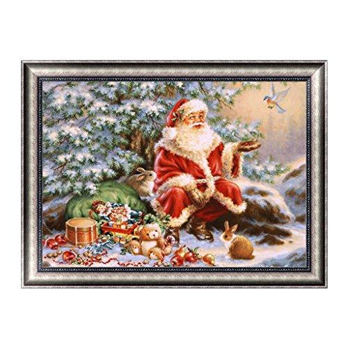 rawuin Weihnachten Santa Claus Muster 5D Diamant Stickerei Gemälde DIY Craft Home Decor (# 593)