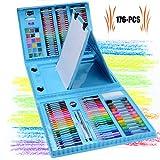 ZXYSHOP Kinder Art Set, 176 PCS Set d'Arte Professionelle Assorted Disegno Marker Mal-Set für Kinder Geschenk für Kinder