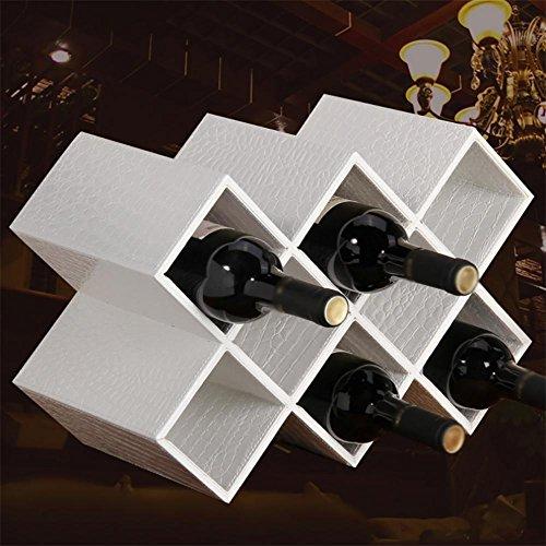 Z&HAOWine Rack Fashion Kreativ European Wine Rack Zuhause, Black Plain Pat Wine Rack -
