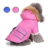 Chaqueta con capucha para mascota, abrigo cálido para cachorro, chaqueta gruesa, chaqueta para gato de Systond con capucha para perros pequeños, medianos y grandes