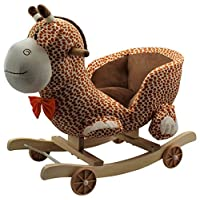Kids Childrens Giraffe Animal Rocker Rocking Toddler Infant Baby Toy Gift By HOME HUT®