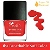 #9: Iba Halal Care Breathable Nail Color, B11 Red Velvet, 9ml