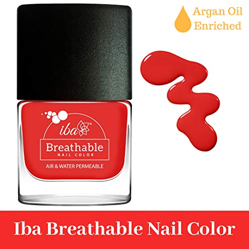 Iba Halal Care Breathable Nail Color, B11 Red Velvet, 9ml