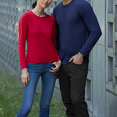 MIOIM Herren Langarmshirt Longsleeve Rundhals Slim Fit Einfabrig Casual Basic Shirt Sweatshirt Stretch Blau