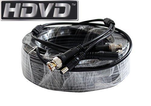 hdvd Premade Füße Siamesische CCTV Koaxial Kabel RG59Combo Kabel für Anschluss HD-SDI hd-tvi hd-cvi Analog AHD 720P/1080P Kamera System mit BNC-Stecker und 2,1mm Power Stecker Kamera Megapixel-systeme