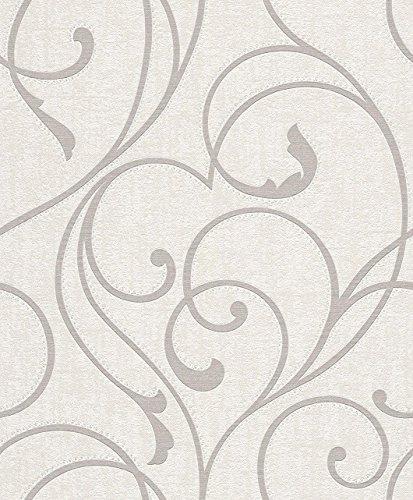 Rasch Vlies Tapete - Größe: 0,53 x 10,05 m - Farbe: weiß - Stil: Muster & Motive (klassisch)
