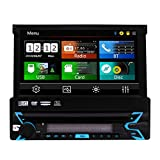 kommt Universal-Wince Head Unit Einzel Din Autoradio GPS-Navigation 7 Zoll kapazitiven Touch Screen DVD-Spieler in der abnehmbaren Panel Autoradio Unterst¨¹Tzung Navi/USB/SD/Cam-in/Bl