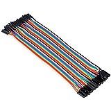 Aukru 40x 20cm female-female jumper wire Kabel Steckbrücken Drahtbrücken für Arduino Raspberry pi (weiblichen zu weiblichen)