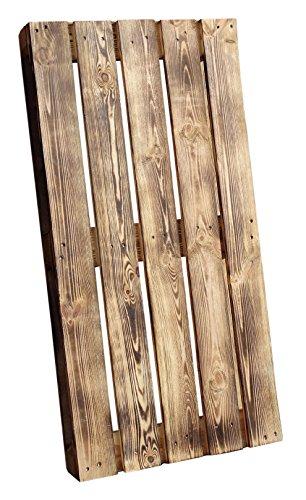 Palette geflammt 120x60x13 cm (LxBxH) - Natur/Shabby/Vintage/Möbelbau - Palettnmöbel-Palettenregal - Bettbau - Weinkisten - Apfelkiste - Obstkiste (GEFLAMMT)