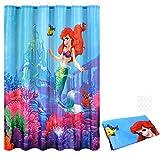 OTOTEC Rideau de Douche, Underwater Petite sirène Ariel Famille de Salle de Bain Polyester imperméable avec 12Crochets 180x 180cm 177,8x 177,8cm
