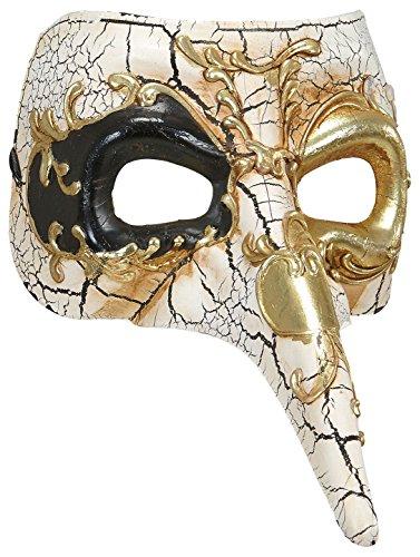 Widmann 1653-Venezianische Maske mit Nase lungolusso, Farben Sortiert, Einheitsgröße (Venezianische Maske Nase)