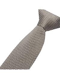 Cravatemince pour hommes gris clair Unis bout carré de 5cm