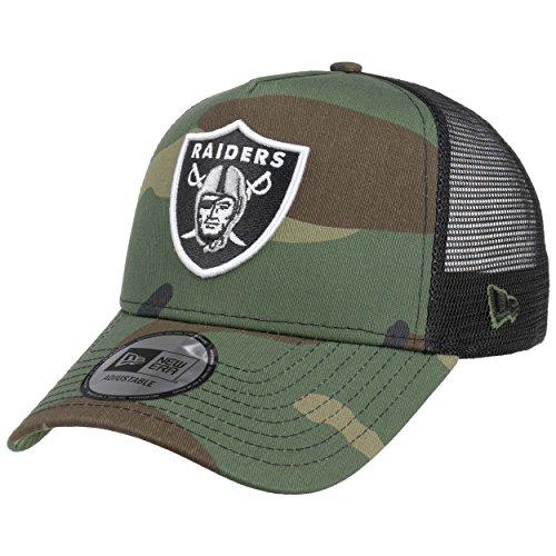 New Era Camo Team Raiders Trucker Cap Cap Base Cap