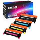Amstech Kit 4 Toner Compatible for Samsung CLP-360 CLP-365 365W Cartucce per Stampante Samsung Toner CLX-3305 CLX-3300 - Samsung Xpress C410W C460W C460FW Cartuccia Laser Compatible CLT-P406C CLT-K406S Toner