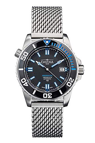 Davosa Automatic Argonautic Diver Lumis Blue Face Stainless Steel Wrist Watch