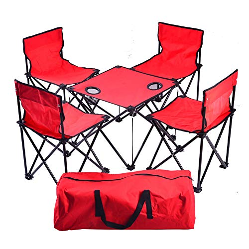 Outdoor tragbaren Rucksack Klapptisch und Stuhl Set von 5 Camouflage Set Picknick Grill Angelstuhl-2