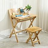 Schreibtische HAIZHEN Kinderschreibtisch-Set Kid Safe, Glatte, geschliffene Holzoberfläche. Hochgradige, Klapptisch (Farbe : Desk+Chair)