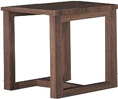 طاولة Jiwa Berani Ela End ، باللون البني (Ela-Sd-Bwn)
