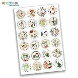 24 Autocollants avec numéro pour Calendrier de l'Avent Images ludiques Nr 22 - Autocollants - pour créer ou décorer...
